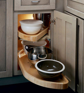 Base Blind Corner w/ Wood Lazy Susan (WLS_0000)
