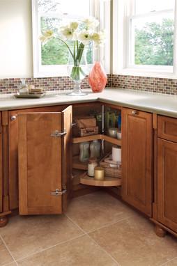 vanity wood lazy susan