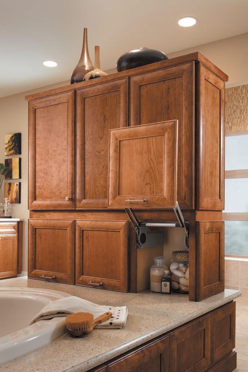 Lift Door Cabinet : Vanity vertical lift door cabinet kraftmaid