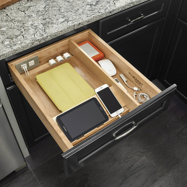 charging drawer 21 kraftmaid. Black Bedroom Furniture Sets. Home Design Ideas