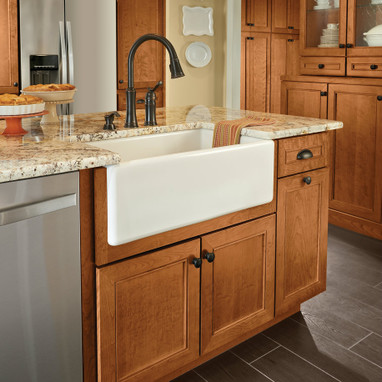 Base cabinet for farmhouse sink