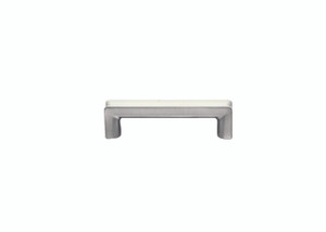Smithwick Pull - Satin Nickel and White