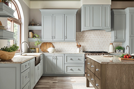 Rocky Mountain Sky Maple Kitchen, With Baltic Oak Island