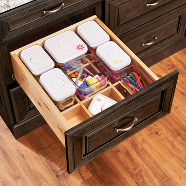 Kraftmaid Deep Drawer Organizer With Canister Storage Dcsk