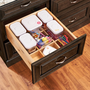 Deep Drawer Organizer with Canister Storage
