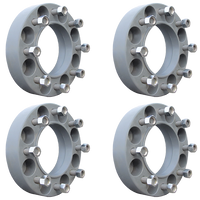 8 Lug 2 Inch Gray Wheel Spacer 8x8 Set