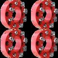 8 Lug 2 Inch Red Wheel Spacer 8x8 Set