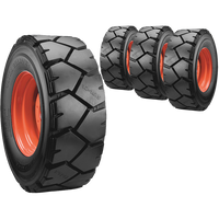 10x16.5 Ultra Guard LVT Skid Steer Tire And Wheel Set
