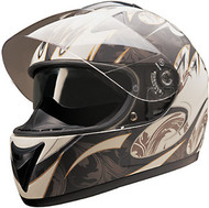 HCI 77 Double Visor Helmet White Matte Golden