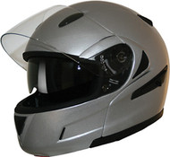 HCI 89 Modular Helmet with Retractable Shield Silver front