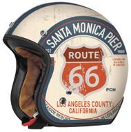 Torc T50 Route 66 PCH Open Face Helmet Flat White
