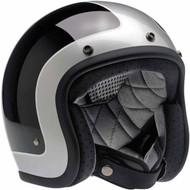 Biltwell Bonanza Tracker Black/Silver Helmet