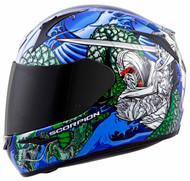 Scorpion EXO-R410 Bushido Helmet Blue/Green