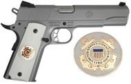 1911 Government Model US Coast Guard Emblems Set In Light Ivory Color Grips G54