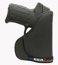 Kel-Tec PF-9 9mm Custom Fit Leather Trimmed orGUNizer Poly Pocket Holster For Concealed Carry Comfort (D)