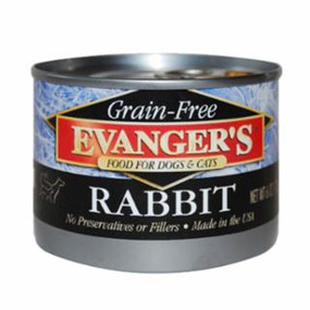 Evanger's Rabbit Grain Free Food 6 oz