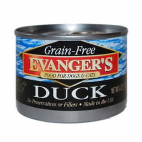 Evanger's Duck Grain Free Food 6oz