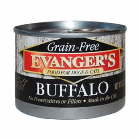 Evanger's Buffalo Grain Free Food 6oz