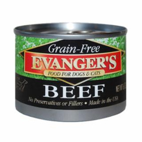 Evanger's Beef Grain Free Food 6oz