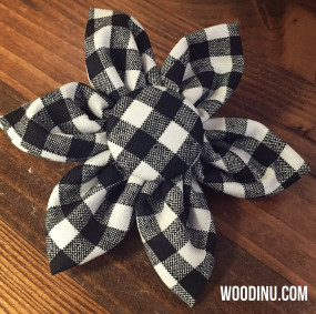 Black & White Plaid Flower