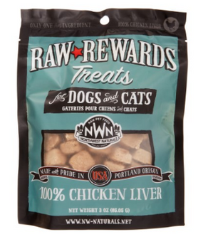 Northwest Naturals Raw Rewards Freeze-Dried Chicken Liver Treats