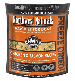 Northwest Naturals Chicken & Salmon Recipe Freeze Dried Dog Food 12 oz