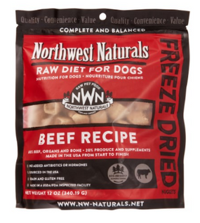 Northwest Naturals Beef Recipe Freeze Dried Dog Food 12 oz
