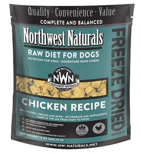 Northwest Naturals Chicken Recipe Freeze Dried Dog Food 12 oz