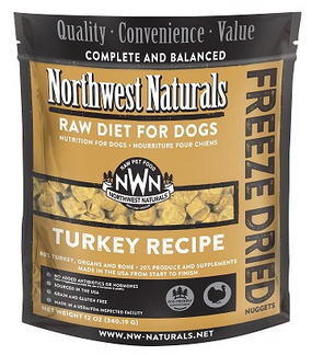 Northwest Naturals Turkey Recipe Freeze Dried Dog Food 12 oz