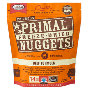 Primal Beef Recipe Freeze Dried Dog Food 14 oz