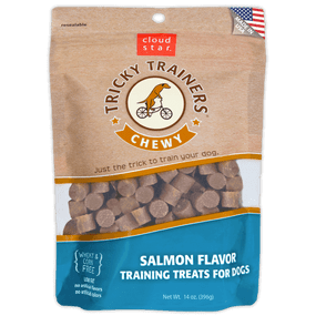 Cloud Star Chewy Tricky Trainers Treat Salmon Flavor 5 oz