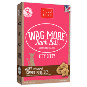 Wag More Bark Oven-Baked Itty Bitty Sweet Potatoes Flavor 8 oz
