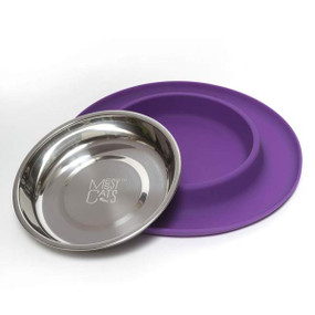 Messy Cats Silicone Feeder Purple