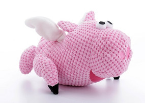Quaker Pet Checkers Flying Pig Large