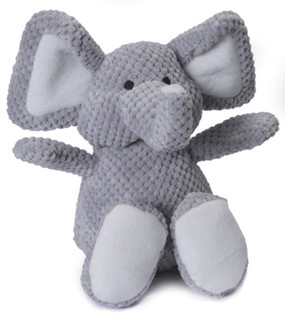 Quaker Pet Checkered Plush Elephant Small