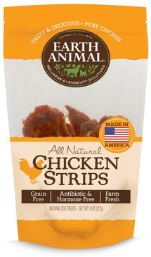 Earth Animal Chicken Strip Treats 8 oz