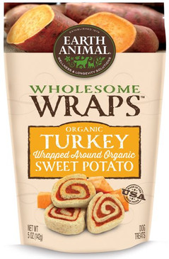 Earth Animal Organic Turkey & Sweet Potato Wraps 5 oz