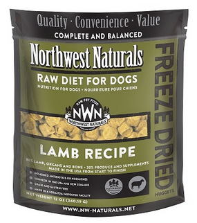 Northwest Naturals Lamb Recipe Freeze Dried Dog Food 12 oz