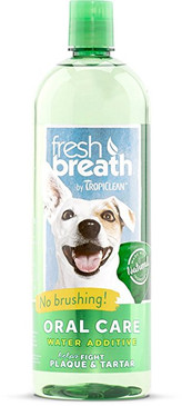 Tropiclean Fresh Breath Water Additive 33.8 oz