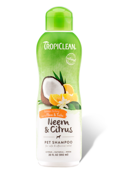 Tropiclean Neem & Citrus Flea & Tick Shampoo 20 oz