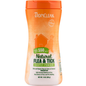 Tropiclean Natural Fla & Tick Carpet Powder 11 oz