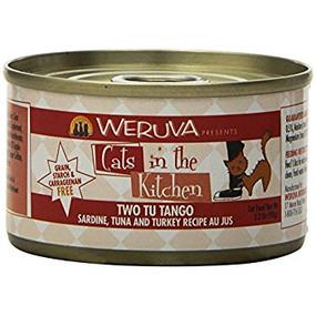 Weruva Cats in the Kitchen Two Tu Tango - Sardine, Tuna & Turkey in Au Jus 3 oz
