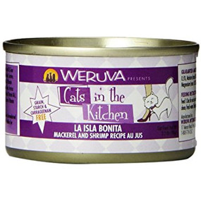 Weruva Cats in the Kitchen La Isla Bonita- Mackerel & Shrimp in Au Jus 3 oz