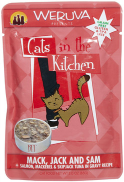 Weruva Cats in the Kitchen Mack, Jack & Sam Pouch 3 oz