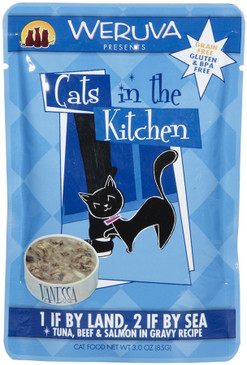 Weruva Cats in the Kitchen 1 If By Land, 2 If By Sea Pouch 3 oz