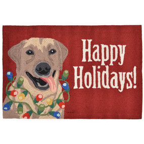 Frontporch Happy Holidays Dog Indoor/Outdoor Rug