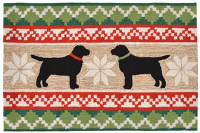 Frontporch NORDIC DOGS NEUTRAL Indoor/Outdoor Rug