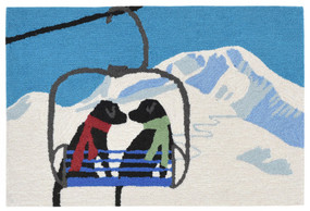 Frontporch Ski Lift Love Winter Indoor/Outdoor Rug
