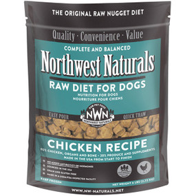 Northwest Naturals Frozen Raw Dog Food Chicken Recipe Nuggets 6 lbs.