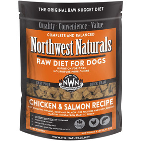 Northwest Naturals Frozen Raw Dog Food Chicken & Salmon Recipe Nuggets 6 lbs.